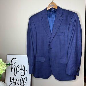 Jos. A. Banks Blue Plaid Tailored Fit Sport Coat